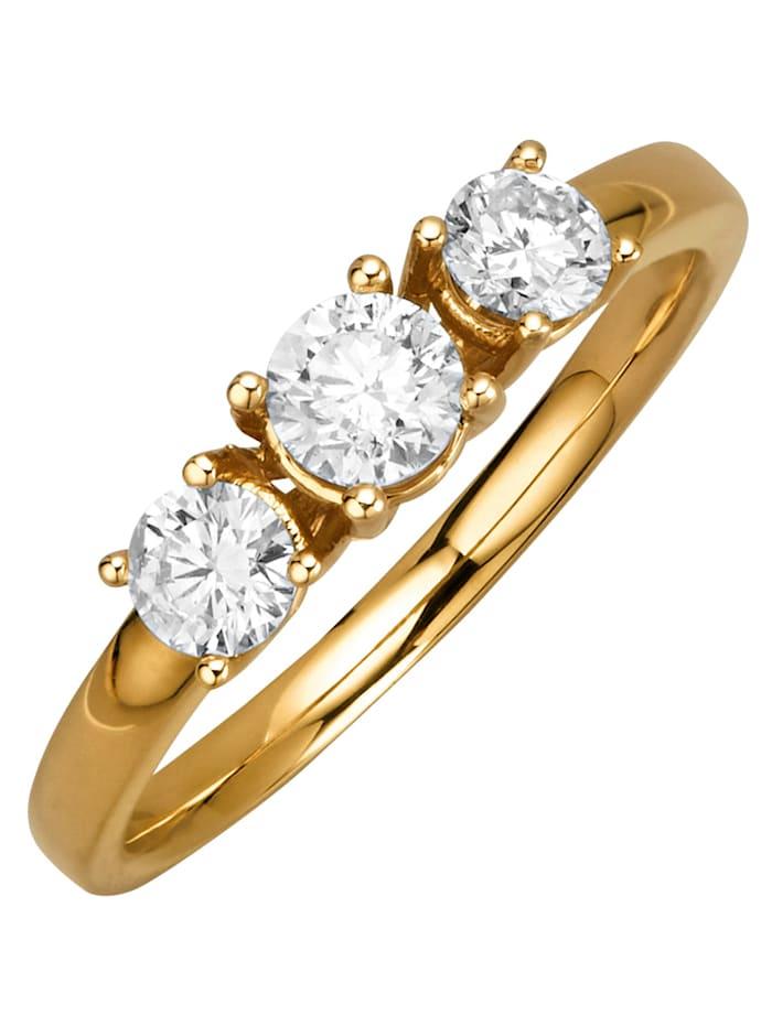 Diemer Diamant Damenring in Gelbgold 750, Gelbgoldfarben