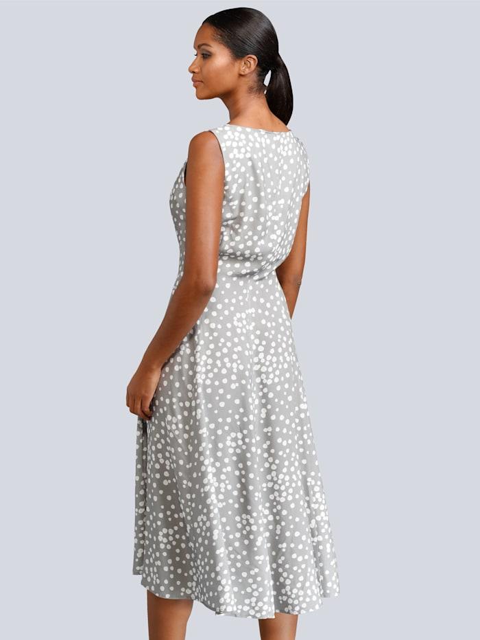 Kleid im Punkte-Dessin allover