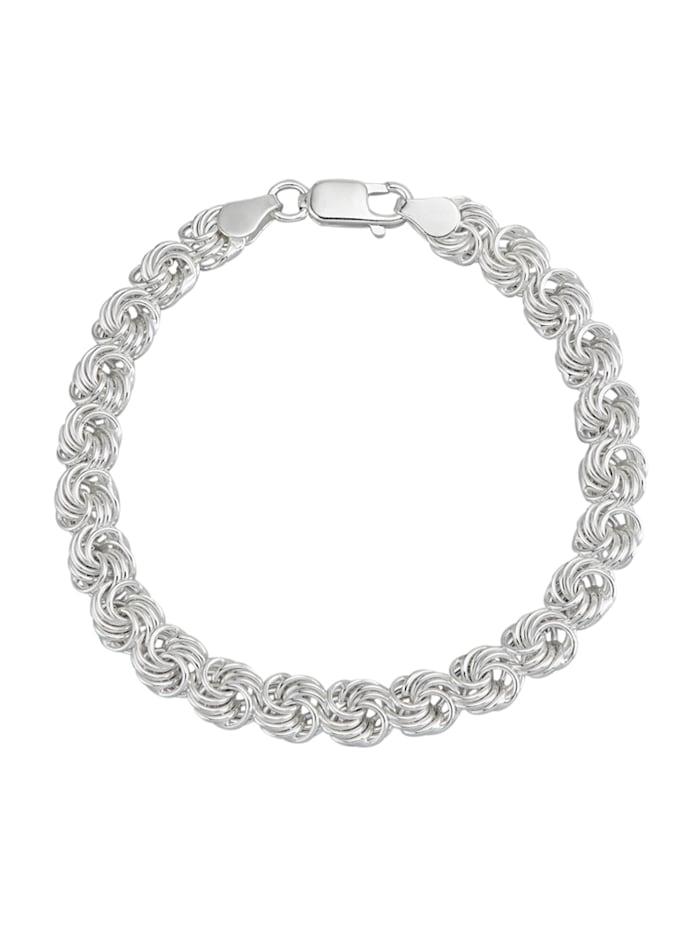 AMY VERMONT Bracelet à motif de roses, Coloris argent