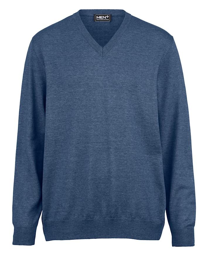 V-Pullover aus pflegeleichter Baumwoll-Mischung