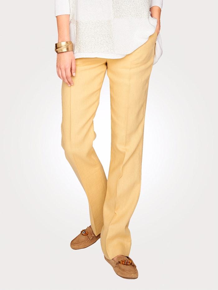 Artigiano Hose aus reinem Leinen, Gelb