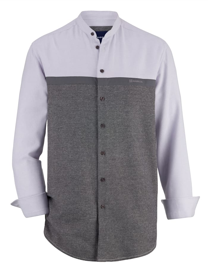 BABISTA Hemd in zweifarbener Optik, Grau