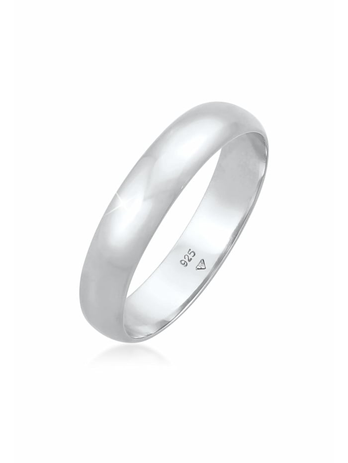 Elli Ring Basic Bandring Casual Look 925 Sterling Silber, Silber