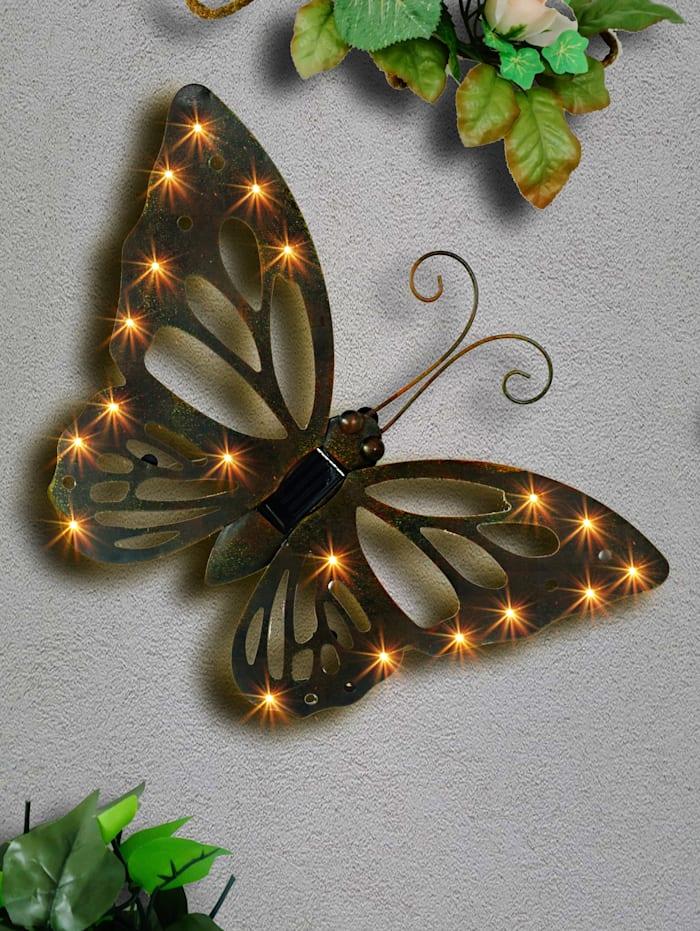 Fjäril med solcellsdriven LED-belysning, Svart
