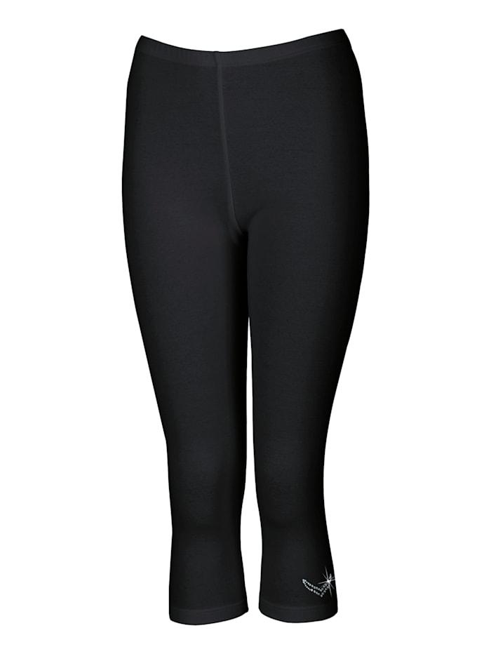 Damen Leggings 3/4 mit Swarovski® Kristallen