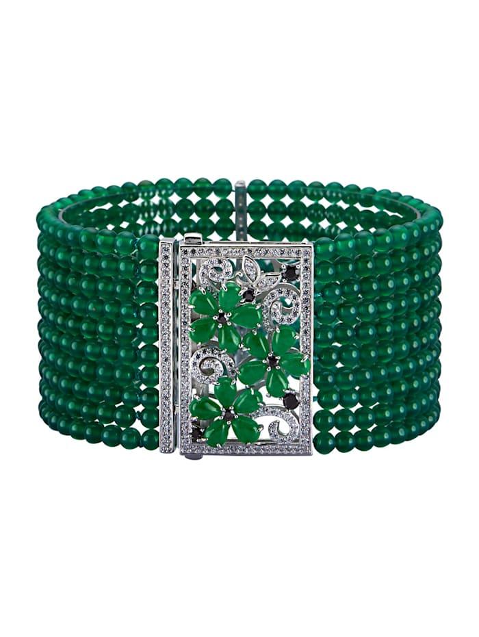 Diemer Highlights Armband mit Farbsteinen, Grün