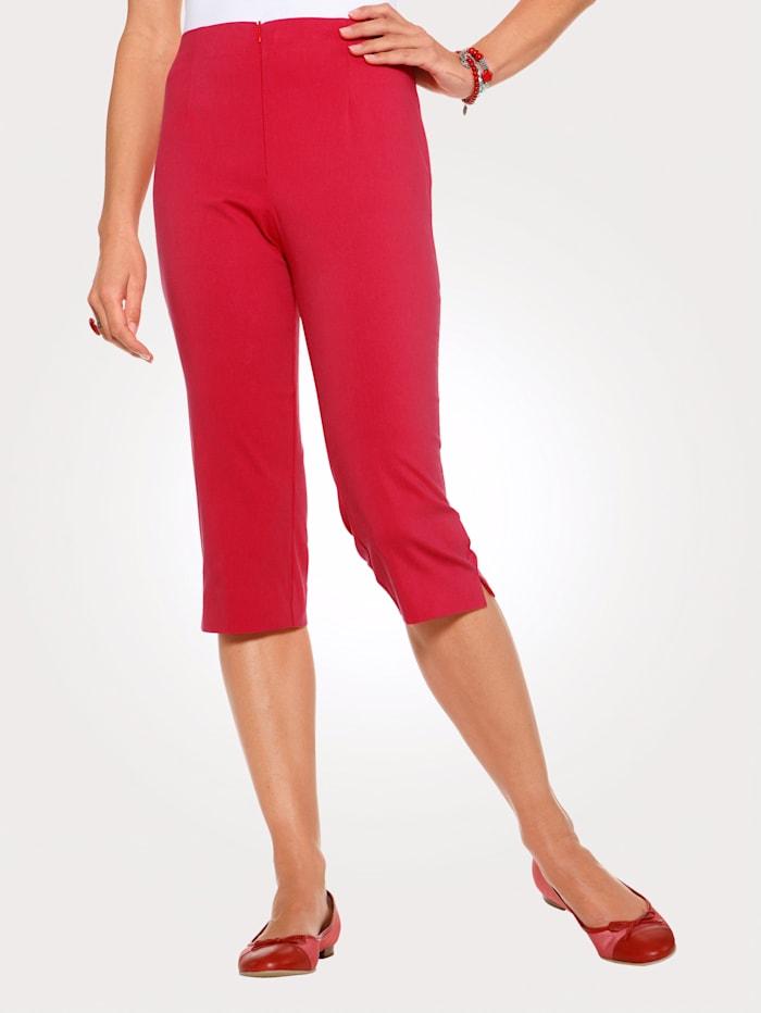 MONA Caprihose mit Baumwolle Basic, Rot