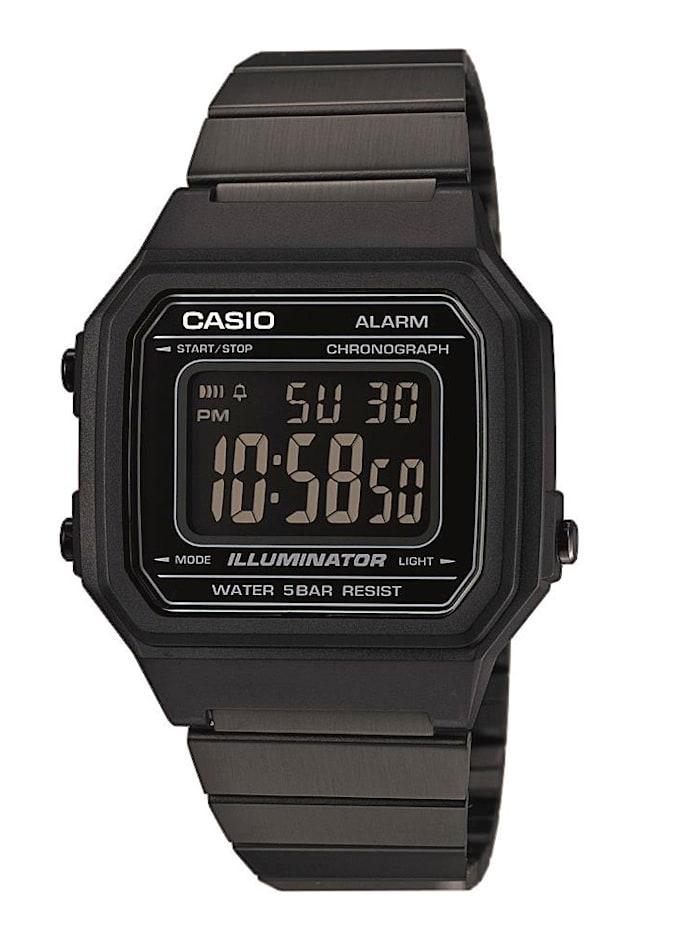 Casio Herrenuhr -Chronograph Collection Retro B650WB-1BEF, Schwarz