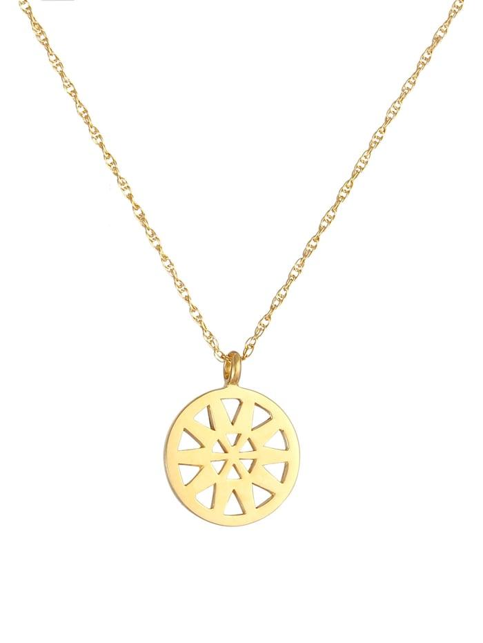 Halskette Ornament Anhänger Gedrehte Gliederkette 925 Silber