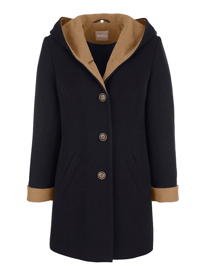 Vlněný kabát s podílem vlny