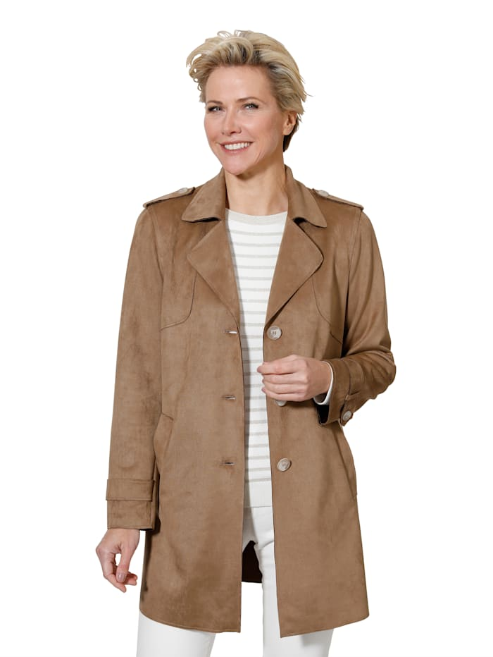 Faux suede jacket made from a premium fabric