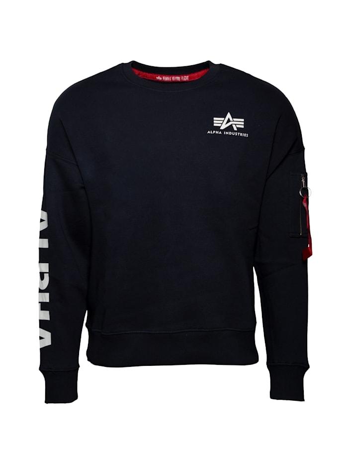 Alpha Industries Sweatshirt Sleeve Print OS Sweater, blau