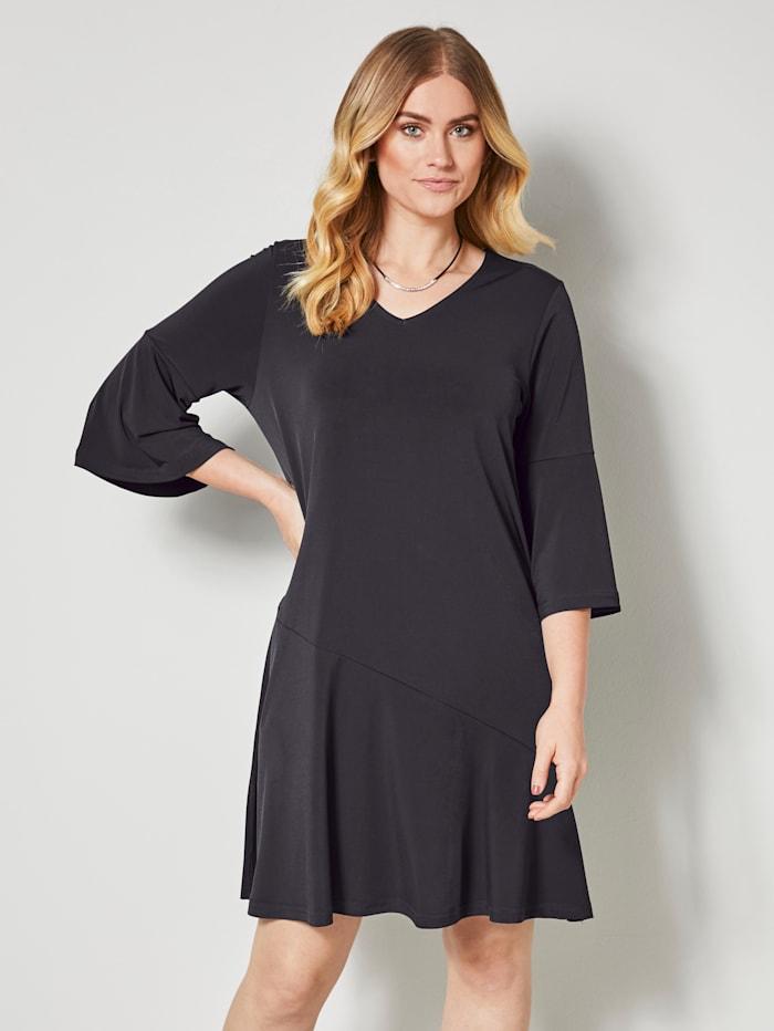 Jerseykleid mit raffinerter Querteilungsnaht