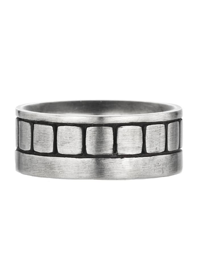 CAI Ring 925/- Sterling Silber ohne Stein matt 925/- Sterling Silber, Silbergrau