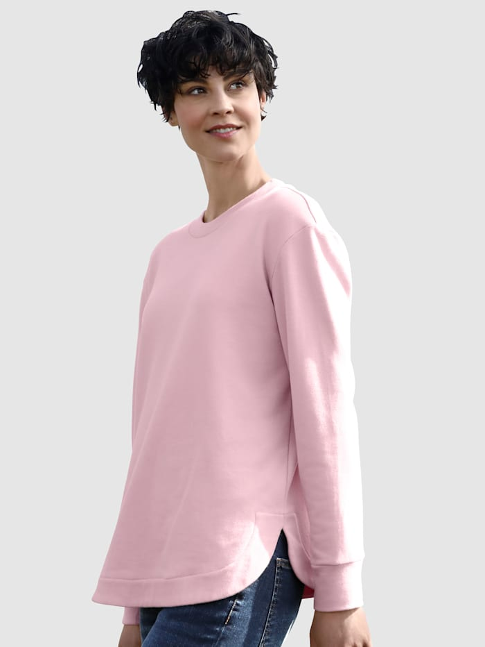 Dress In Sweatshirt in modernem Schnitt, Lachs