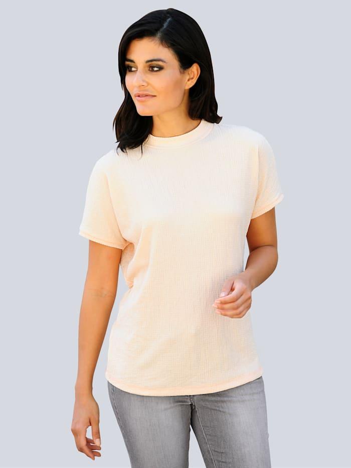 Alba Moda Shirt aus strukturierter Qualität, Apricot