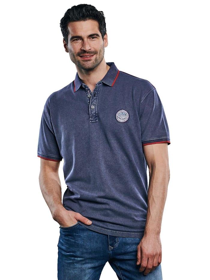 Engbers Polo-Shirt gefärbt, Brilliantblau