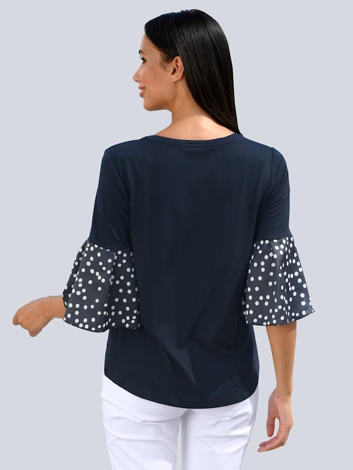 Shirt mit Web- Ärmeln