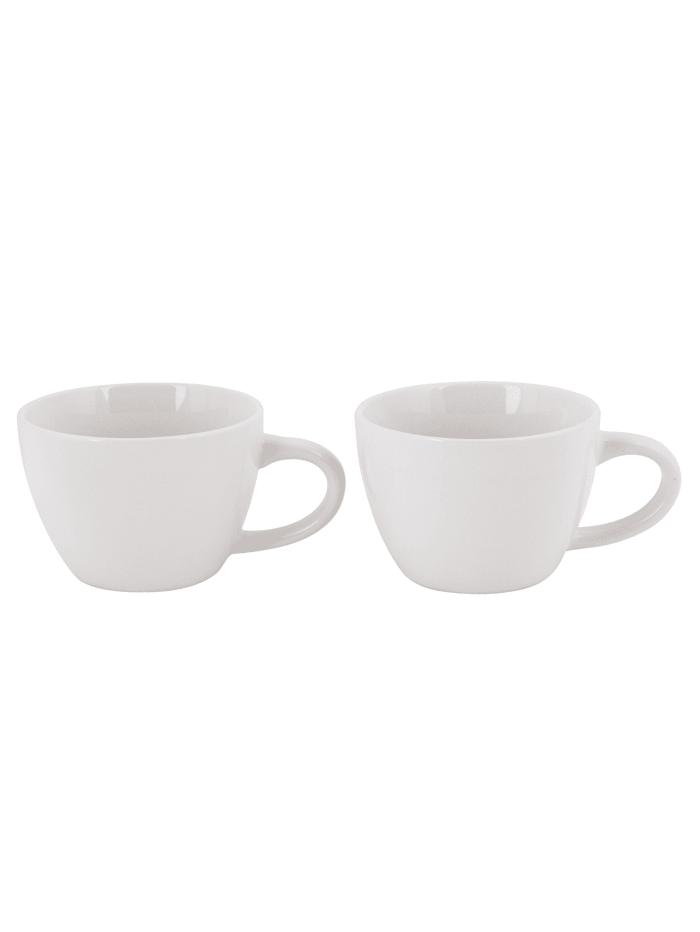 IMPRESSIONEN living Lot de 2 tasses, Blanc