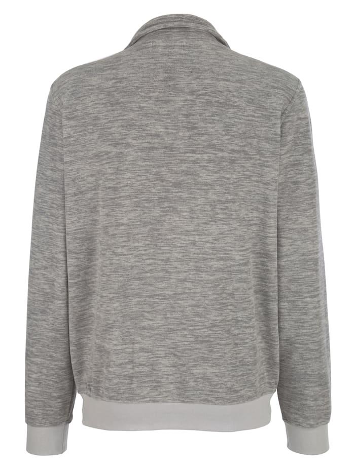 Fleece trui van trendy gemêleerd materiaal