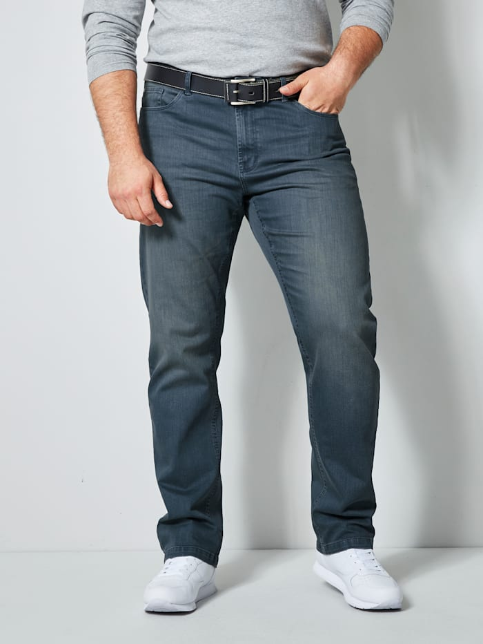 Men Plus Jeans in 5- Pockt Form, Blau