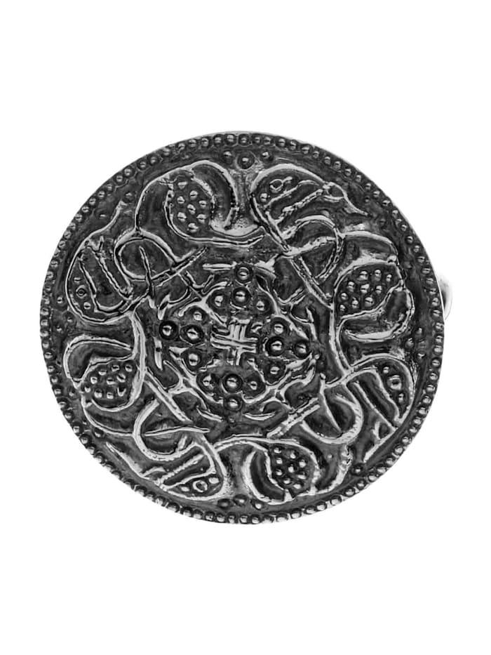 OSTSEE-SCHMUCK Brosche - Hiddensee 26 mm rund - Silber 925/000 - ,, Silber 925