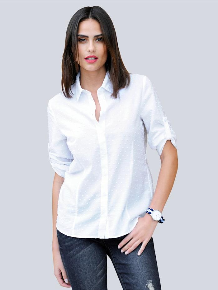 Alba Moda Bluse in modischer Aufmachung, Weiß