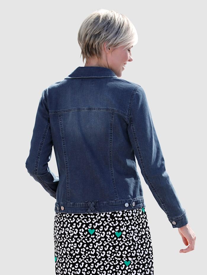 Veste en jean à poches côtés