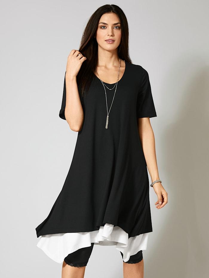 2-in-1-Jersey-Kleid mit Zipfelsaum