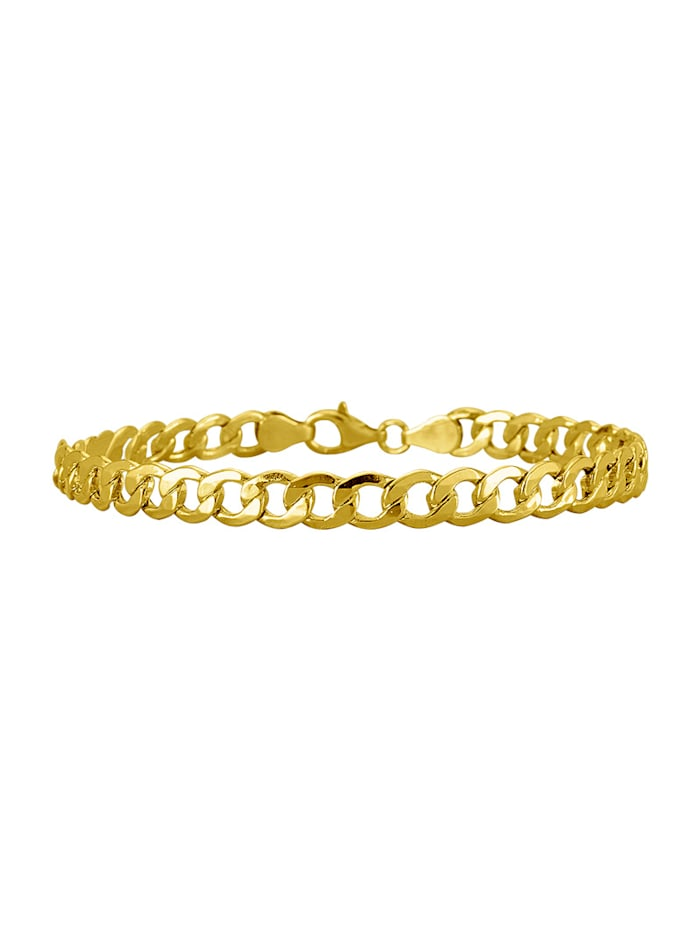 Amara Gold Panzerarmband mit Karabiner, Gelb