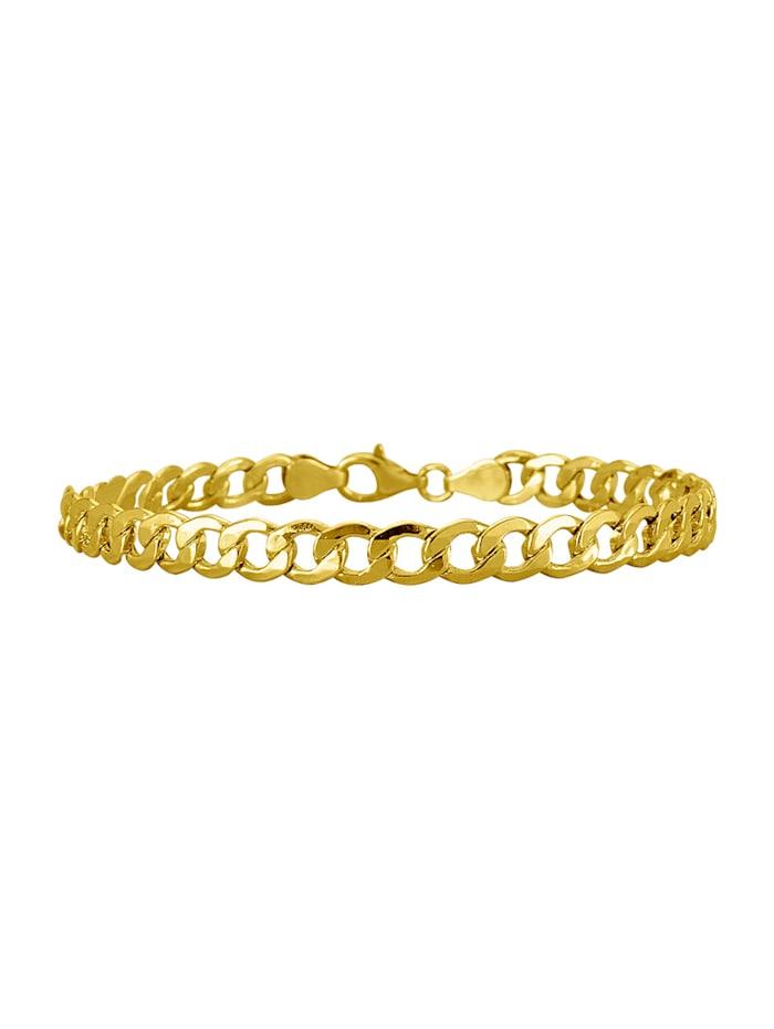 Diemer Gold Panzerarmband mit Karabiner, Gelb