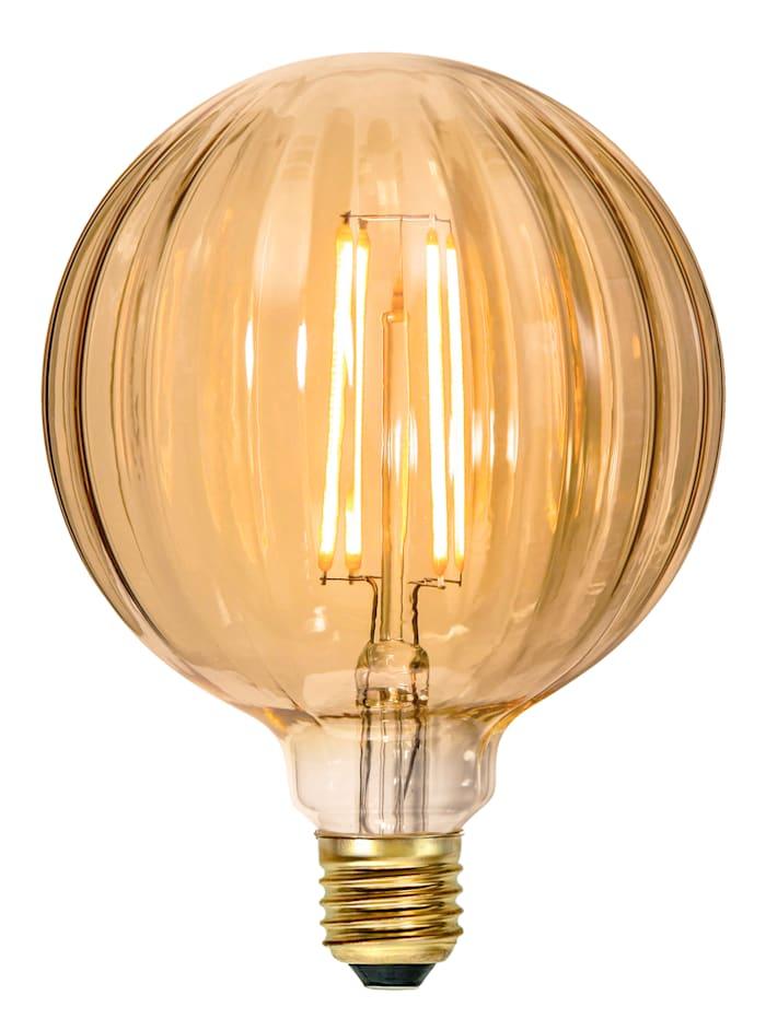 Star Deco LED, Amberglas/goldfarben