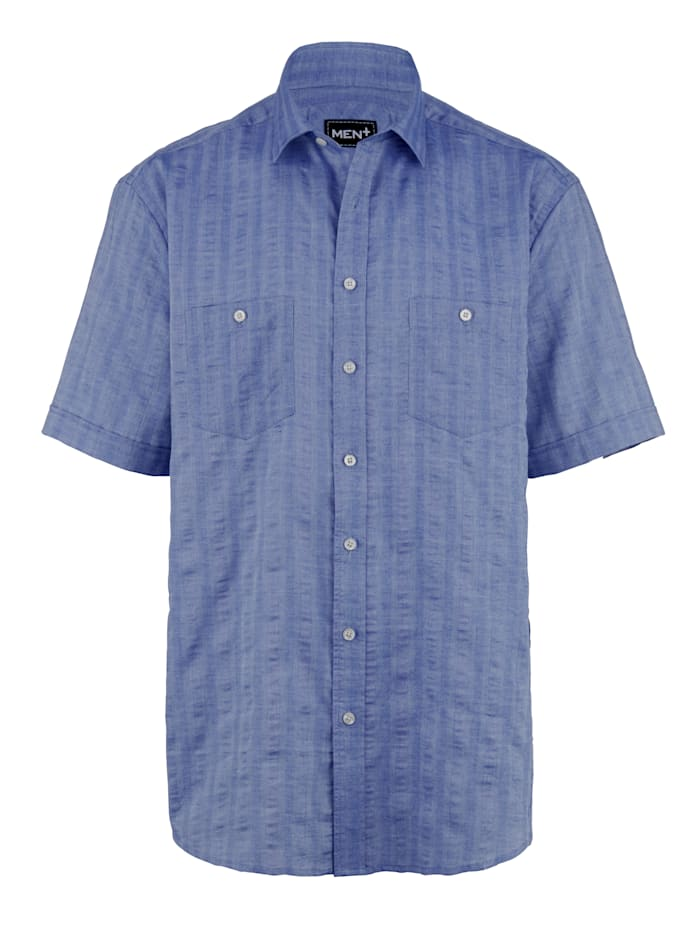 Men Plus Overhemd met kentkraag, Donkerblauw