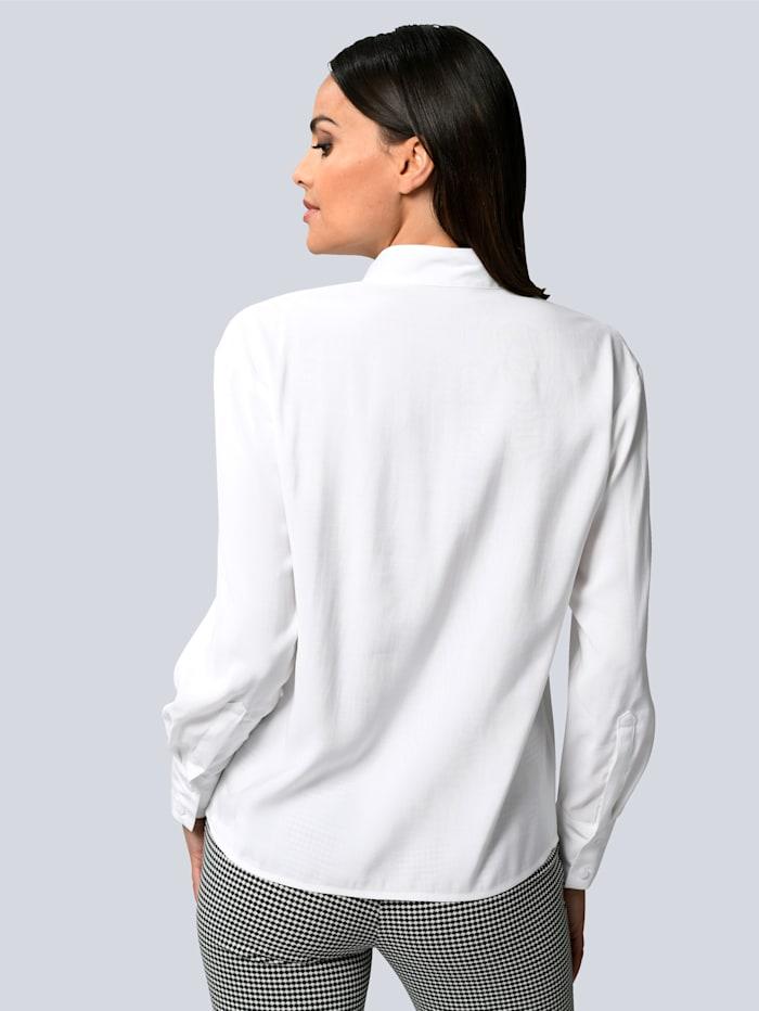 Bluse mit Faltendetail am Ausschnitt