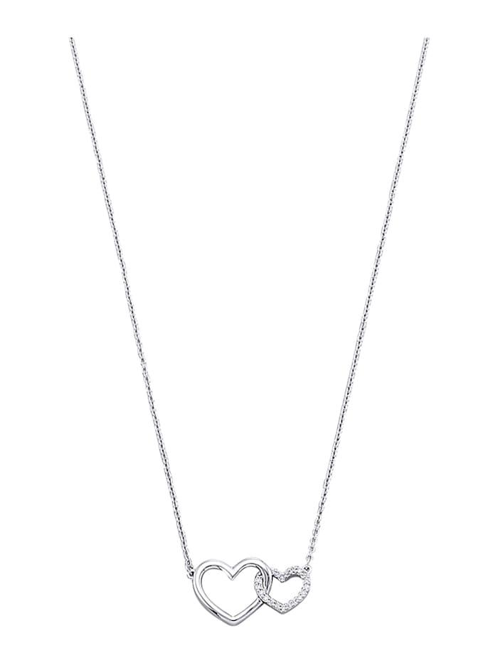 Halsband med diamanter, Vit