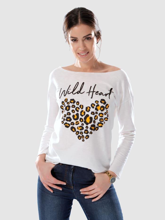 Dress In T-shirt à imprimé tendance, Écru