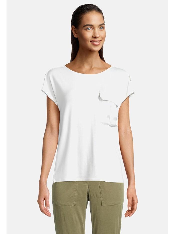 Betty & Co Casual-Shirt mit aufgesetzter Brusttasche, Weiß