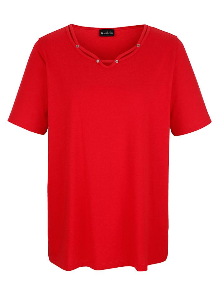Shirt met bandjesversiering aan de hals