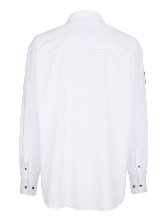 Hemd mit Druck und Stickerei im Vorderteil