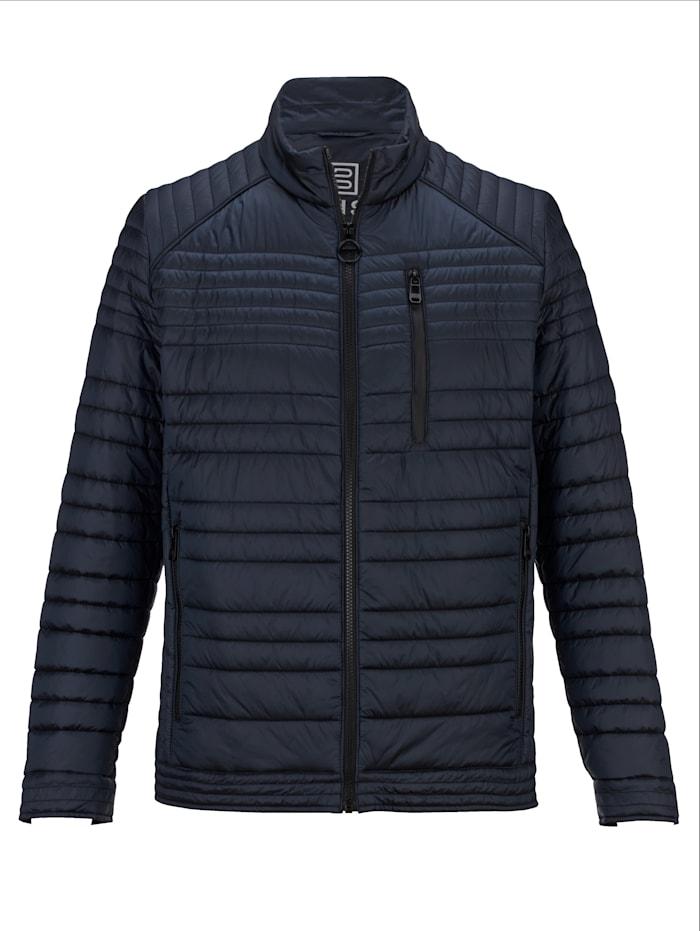 BABISTA Gewatteerde jas met subtiele glans, Donkerblauw