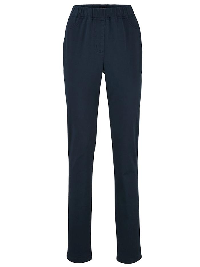 MIAMODA Pantalon à ceinture extensible, Marine