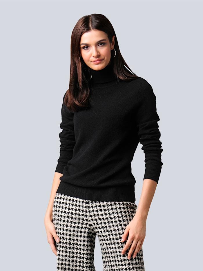Alba Moda Pullover aus hochwertigem Kaschmir, Schwarz