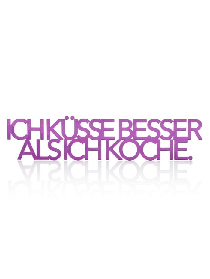 IMPRESSIONEN Klebe-Schriftzug, violett