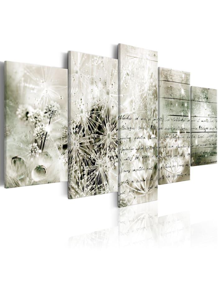 artgeist Wandbild Love Letter II, Beige,Schwarz,Grün,Weiß