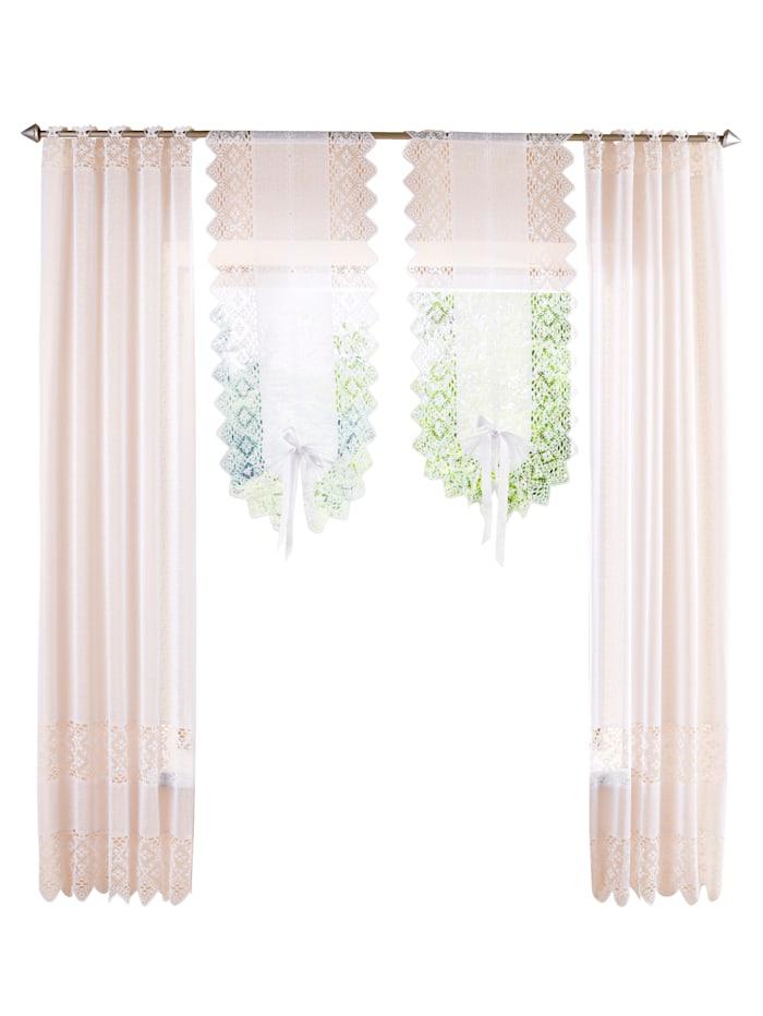 Home Wohnideen Set van 2 raam- en deurvitrages Maren, Wit