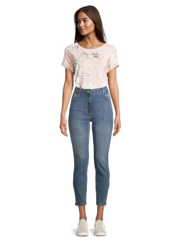 Betty Barclay Slim Fit-Jeans mit Reißverschluss Reißverschluss, Blau
