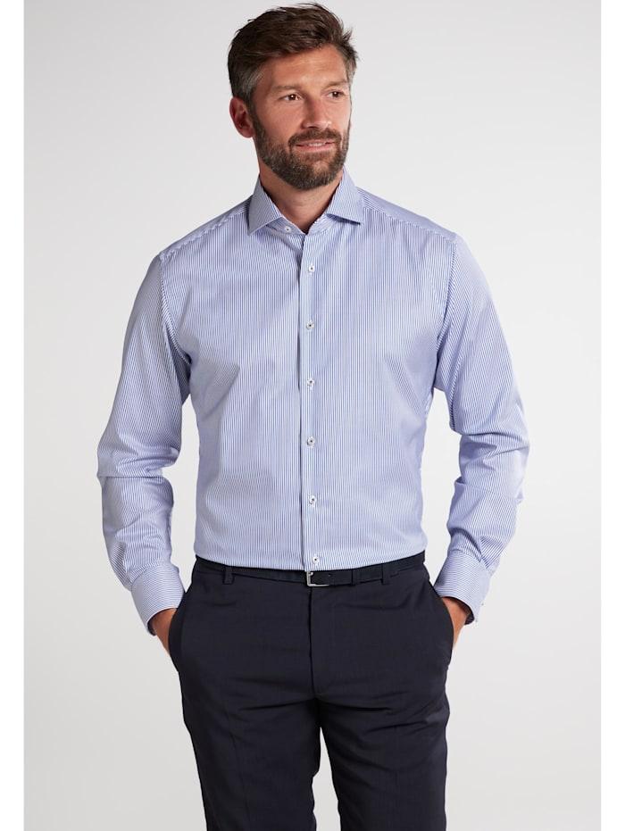 Eterna Eterna Langarm Hemd MODERN FIT, blau/weiss