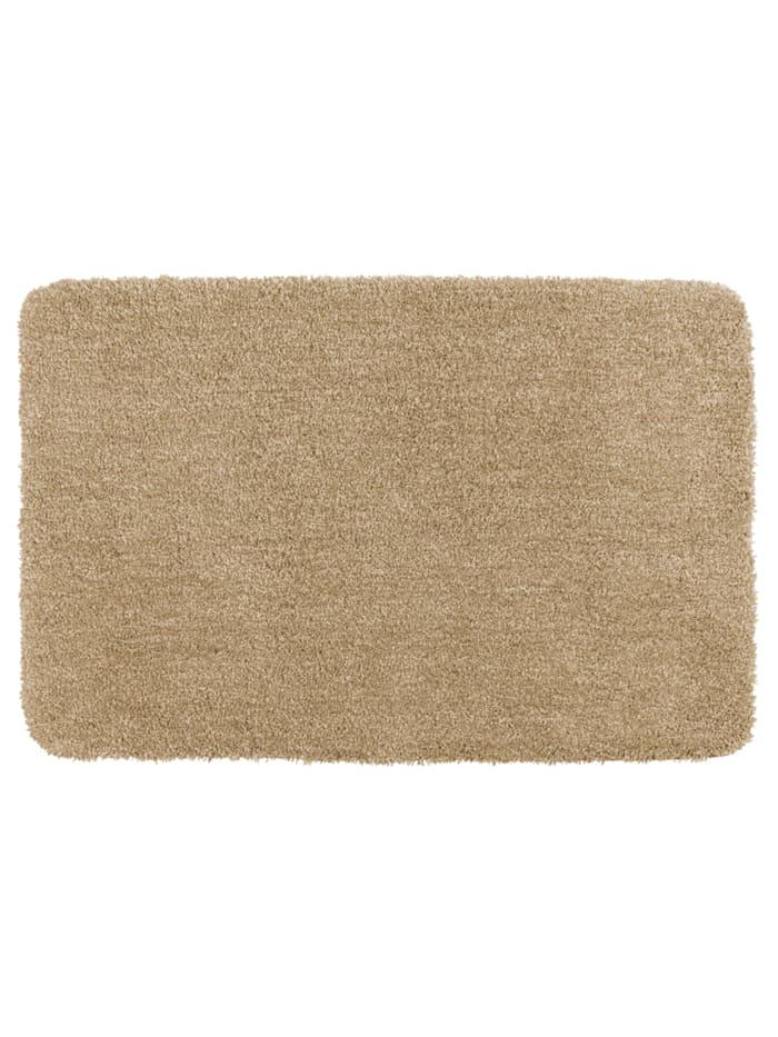 Wenko Badteppich Mélange Sand, 60 x 90 cm, 60 x 90 cm, Mikrofaser, Polyester/Mikrofaser: Beige