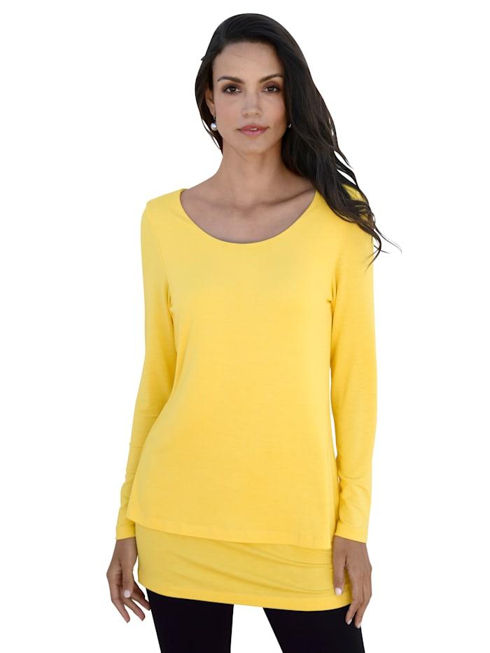 AMY VERMONT Longshirt mit zwei Lagen, Gelb