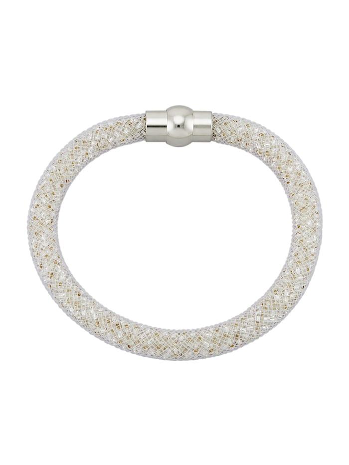 Golden Style Bracelet mesh, Blanc